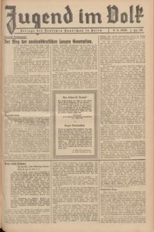 Jugend im Volk : Beilage der Deutschen Rundschau in Polen. 1936, Nr. 35 (6 September)