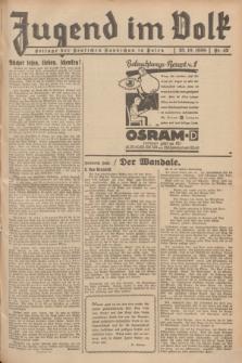 Jugend im Volk : Beilage der Deutschen Rundschau in Polen. 1936, Nr. 42 (25 Oktober)