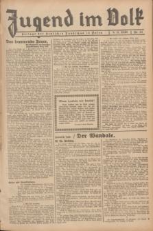 Jugend im Volk : Beilage der Deutschen Rundschau in Polen. 1936, Nr. 44 (8 November)