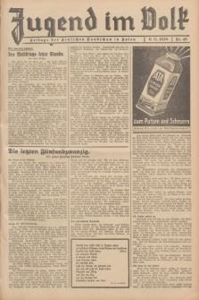 Jugend im Volk : Beilage der Deutschen Rundschau in Polen. 1938, Nr. 45 (6 November)