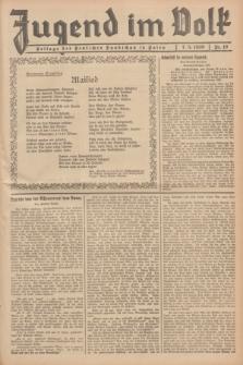 Jugend im Volk : Beilage der Deutschen Rundschau in Polen. 1939, Nr. 19 (7 Mai)