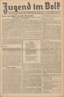 Jugend im Volk : Beilage der Deutschen Rundschau in Polen. 1939, Nr. 21 (21 Mai)