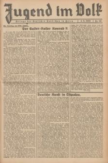 Jugend im Volk : Beilage der Deutschen Rundschau in Polen. 1939, Nr. 23 (4 Juni)