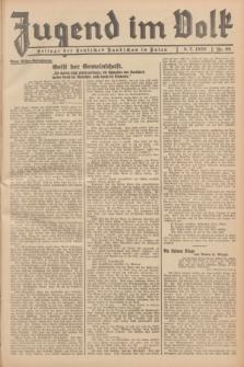 Jugend im Volk : Beilage der Deutschen Rundschau in Polen. 1939, Nr. 28 (9 Juli)