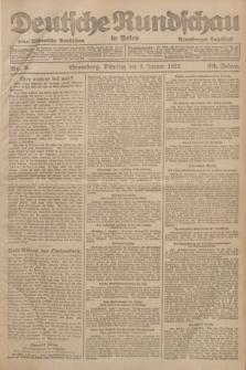 Deutsche Rundschau in Polen : früher Ostdeutsche Rundschau, Bromberger Tageblatt. Jg.46, Nr. 2 (3 Januar 1922) + dod.