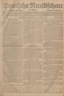 Deutsche Rundschau in Polen : früher Ostdeutsche Rundschau, Bromberger Tageblatt. Jg.46, Nr. 3 (4 Januar 1922) + dod.