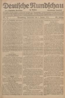 Deutsche Rundschau in Polen : früher Ostdeutsche Rundschau, Bromberger Tageblatt. Jg.46, Nr. 4 (5 Januar 1922) + dod.