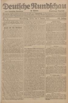 Deutsche Rundschau in Polen : früher Ostdeutsche Rundschau, Bromberger Tageblatt. Jg.46, Nr. 5 (6 Januar 1922) + dod.