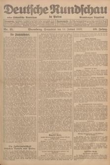 Deutsche Rundschau in Polen : früher Ostdeutsche Rundschau, Bromberger Tageblatt. Jg.46, Nr. 11 (14 Januar 1922) + dod.