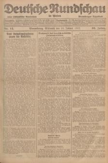 Deutsche Rundschau in Polen : früher Ostdeutsche Rundschau, Bromberger Tageblatt. Jg.46, Nr. 14 (18 Januar 1922) + dod.