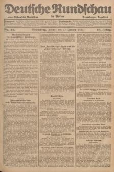 Deutsche Rundschau in Polen : früher Ostdeutsche Rundschau, Bromberger Tageblatt. Jg.46, Nr. 22 (27 Januar 1922) + dod.