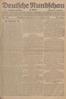 Deutsche Rundschau in Polen : früher Ostdeutsche Rundschau, Bromberger Tageblatt. Jg.46, Nr. 23 (28 Januar 1922) + dod.