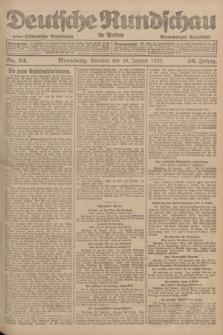 Deutsche Rundschau in Polen : früher Ostdeutsche Rundschau, Bromberger Tageblatt. Jg.46, Nr. 24 (29 Januar 1922) + dod.