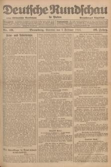 Deutsche Rundschau in Polen : früher Ostdeutsche Rundschau, Bromberger Tageblatt. Jg.46, Nr. 29 (5 Februar 1922) + dod.