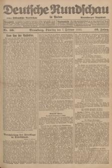 Deutsche Rundschau in Polen : früher Ostdeutsche Rundschau, Bromberger Tageblatt. Jg.46, Nr. 30 (7 Februar 1922) + dod.