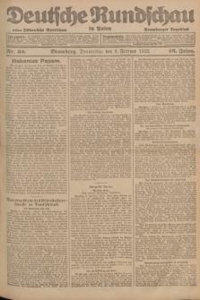 Deutsche Rundschau in Polen : früher Ostdeutsche Rundschau, Bromberger Tageblatt. Jg.46, Nr. 32 (9 Februar 1922) + dod.