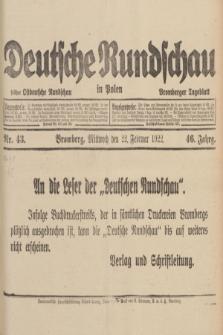 Deutsche Rundschau in Polen : früher Ostdeutsche Rundschau, Bromberger Tageblatt. Jg.46, Nr. 43 (22 Februar 1922)