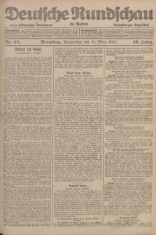 Deutsche Rundschau in Polen : früher Ostdeutsche Rundschau, Bromberger Tageblatt. Jg.46, Nr. 48 (23 März 1922) + dod.