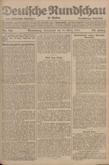 Deutsche Rundschau in Polen : früher Ostdeutsche Rundschau, Bromberger Tageblatt. Jg.46, Nr. 50 (25 März 1922) + dod.