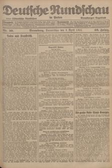 Deutsche Rundschau in Polen : früher Ostdeutsche Rundschau, Bromberger Tageblatt. Jg.46, Nr. 59 (6 April 1922) + dod.