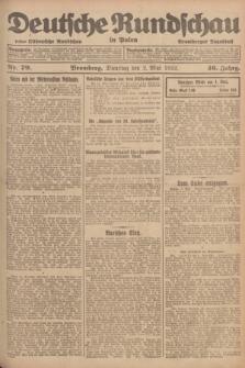 Deutsche Rundschau in Polen : früher Ostdeutsche Rundschau, Bromberger Tageblatt. Jg.46, Nr. 79 (2 Mai 1922) + dod.