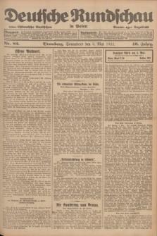 Deutsche Rundschau in Polen : früher Ostdeutsche Rundschau, Bromberger Tageblatt. Jg.46, Nr. 82 (6 Mai 1922) + dod.