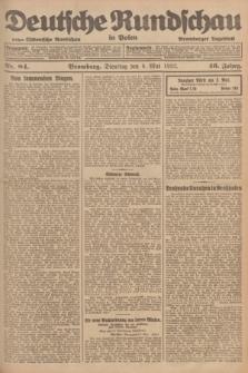 Deutsche Rundschau in Polen : früher Ostdeutsche Rundschau, Bromberger Tageblatt. Jg.46, Nr. 84 (9 Mai 1922) + dod.