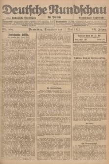 Deutsche Rundschau in Polen : früher Ostdeutsche Rundschau, Bromberger Tageblatt. Jg.46, Nr. 88 (13 Mai 1922) + dod.