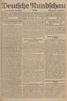 Deutsche Rundschau in Polen : früher Ostdeutsche Rundschau, Bromberger Tageblatt. Jg.46, Nr. 89 (14 Mai 1922) + dod.