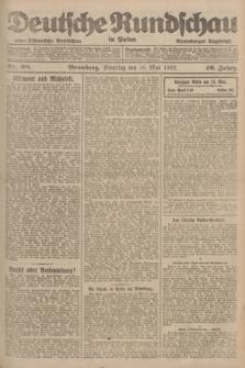 Deutsche Rundschau in Polen : früher Ostdeutsche Rundschau, Bromberger Tageblatt. Jg.46, Nr. 90 (16 Mai 1922) + dod.