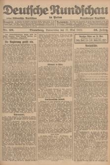 Deutsche Rundschau in Polen : früher Ostdeutsche Rundschau, Bromberger Tageblatt. Jg.46, Nr. 98 (25 Mai 1922) + dod.
