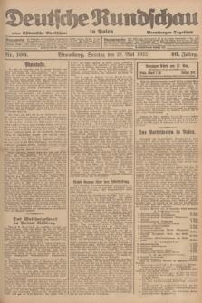 Deutsche Rundschau in Polen : früher Ostdeutsche Rundschau, Bromberger Tageblatt. Jg.46, Nr. 100 (28 Mai 1922) + dod.