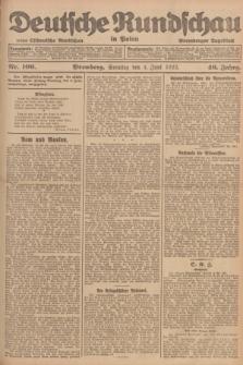 Deutsche Rundschau in Polen : früher Ostdeutsche Rundschau, Bromberger Tageblatt. Jg.46, Nr. 106 (4 Juni 1922) + dod.