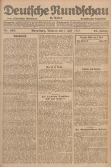 Deutsche Rundschau in Polen : früher Ostdeutsche Rundschau, Bromberger Tageblatt. Jg.46, Nr. 107 (7 Juni 1922) + dod.