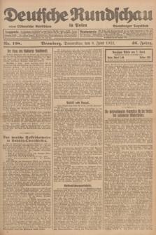 Deutsche Rundschau in Polen : früher Ostdeutsche Rundschau, Bromberger Tageblatt. Jg.46, Nr. 108 (8 Juni 1922) + dod.