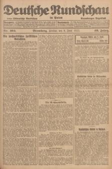 Deutsche Rundschau in Polen : früher Ostdeutsche Rundschau, Bromberger Tageblatt. Jg.46, Nr. 109 (9 Juni 1922) + dod.