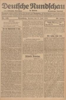 Deutsche Rundschau in Polen : früher Ostdeutsche Rundschau, Bromberger Tageblatt. Jg.46, Nr. 116 (18 Juni 1922) + dod.
