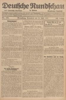 Deutsche Rundschau in Polen : früher Ostdeutsche Rundschau, Bromberger Tageblatt. Jg.46, Nr. 121 (24 Juni 1922) + dod.