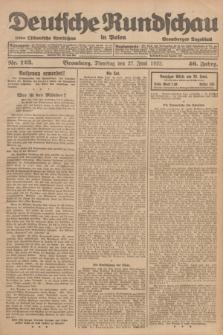 Deutsche Rundschau in Polen : früher Ostdeutsche Rundschau, Bromberger Tageblatt. Jg.46, Nr. 123 (27 Juni 1922) + dod.