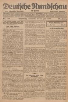 Deutsche Rundschau in Polen : früher Ostdeutsche Rundschau, Bromberger Tageblatt. Jg.46, Nr. 125 (29 Juni 1922) + dod.