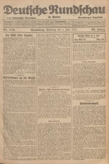 Deutsche Rundschau in Polen : früher Ostdeutsche Rundschau, Bromberger Tageblatt. Jg.46, Nr. 128 (4 Juli 1922) + dod.