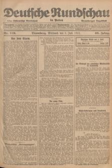 Deutsche Rundschau in Polen : früher Ostdeutsche Rundschau, Bromberger Tageblatt. Jg.46, Nr. 129 (5 Juli 1922) + dod.