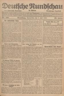 Deutsche Rundschau in Polen : früher Ostdeutsche Rundschau, Bromberger Tageblatt. Jg.46, Nr. 130 (6 Juli 1922) + dod.