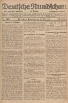 Deutsche Rundschau in Polen : früher Ostdeutsche Rundschau, Bromberger Tageblatt. Jg.46, Nr. 142 (20 Juli 1922) + dod.