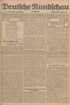 Deutsche Rundschau in Polen : früher Ostdeutsche Rundschau, Bromberger Tageblatt. Jg.46, Nr. 145 (23 Juli 1922) + dod.