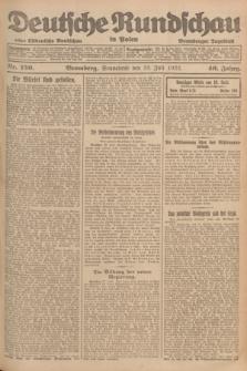 Deutsche Rundschau in Polen : früher Ostdeutsche Rundschau, Bromberger Tageblatt. Jg.46, Nr. 150 (29 Juli 1922) + dod.