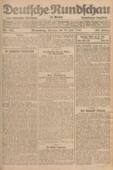 Deutsche Rundschau in Polen : früher Ostdeutsche Rundschau, Bromberger Tageblatt. Jg.46, Nr. 151 (30 Juli 1922) + dod.