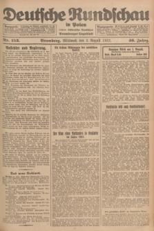 Deutsche Rundschau in Polen : früher Ostdeutsche Rundschau, Bromberger Tageblatt. Jg.46, Nr. 153 (2 August 1922) + dod.