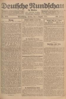 Deutsche Rundschau in Polen : früher Ostdeutsche Rundschau, Bromberger Tageblatt. Jg.46, Nr. 155 (4 August 1922) + dod.