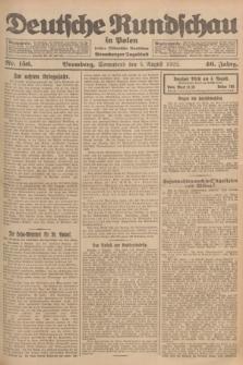 Deutsche Rundschau in Polen : früher Ostdeutsche Rundschau, Bromberger Tageblatt. Jg.46, Nr. 156 (5 August 1922) + dod.